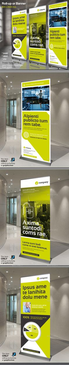 Corporate Banner or Rollup Vol 3 by MrTemplater Corporate Banner. Modern and clean design for banner/rollup. Perfect for PR agency or other business promotion. All elements are e Signage Design, Booth Design, Layout Design, Branding Design, Roll Up Design, Clean Design, Exhibition Banners, Standing Banner Design, Digital Signage Displays