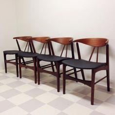 Fyra stolar i bästa danska design retro 50/60-tal