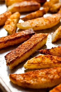 NYT Cooking: Kohlrabi can be cut into thick sticks like home fries, browned in a small amount of oil, and seasoned with chili powder (my favorite), curry powder, cumin or paprika. It's a very satisfying and healthy fry.