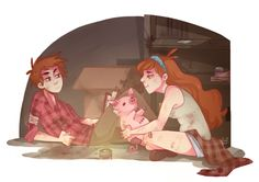 Gravity falls Walking Dead au