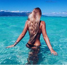 Summer vibes Bikinis coming soon. Beach Girls, Beach Bum, Summer Beach, Bikini Beach, Blue Beach, Blue Bikini, Summer Body, Summer Hair, Ocean Beach