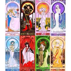 Image result for sailor moon tarot deck