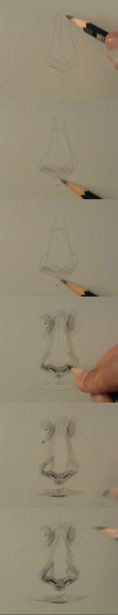 Como dibujar una nariz