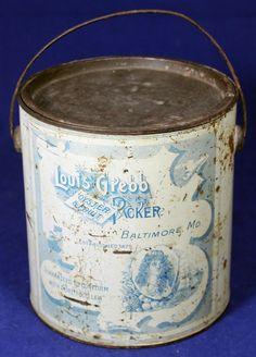RARE Louis Grebb Gallon Oyster Tin Baltimore Maryland   eBay