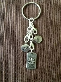 Create a Keychain with items from the Origami Owl  Tagged Collection and the Locket Extender. Great Gift Idea!! www.mirandamoran.origamiowl.com