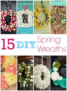 15 DIY Spring Wreath