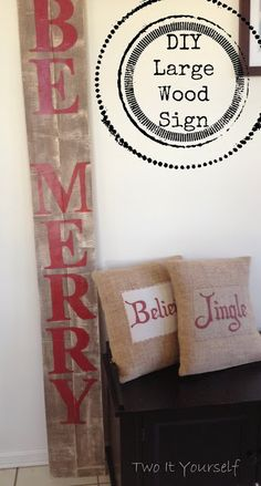 DIY Large Christmas Sign {Pottery Barn 'Peace' sign Knockoff}