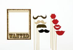 Western Themed Photobooth Prop. Photo Booth Props. Wedding, Birthday Photo Prop. Wanted. $25.00, via Etsy.
