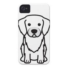 Tibetan Spaniel Dog Cartoon iPhone 4 Case
