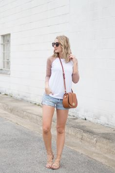 Casual t-shirt and shorts