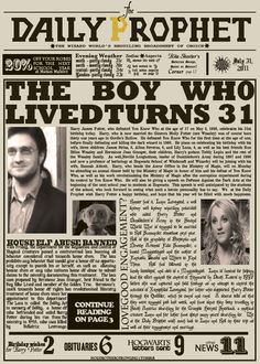 The boy who lived turns 31. Happy birthday, Harry Potter & JK Rowling <3