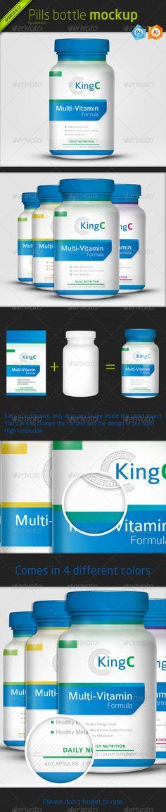 Pills Bottle Mockup  #GraphicRiver