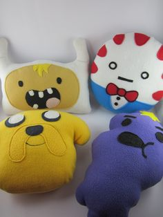 Adventure Time Plush - Made to Order - Peppermint Butler Pillow. $30,00, via Etsy.