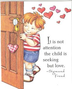 Not Attention The Child Is Seeking But Love Valentine Magnet Mary Engelbreit Art