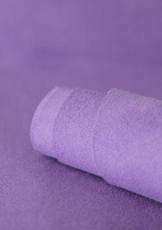 Cuir aspect daim violet