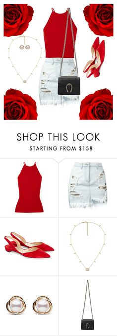 """""""(good) blood."""" by anybarb ❤ liked on Polyvore featuring Alexander Wang, Versus, Paul Andrew, Gucci and Trilogy"""
