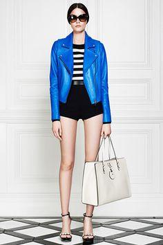 Electric blue leather jacket. Done. Jason Wu Resort 2013 Womenswear