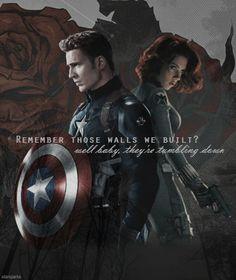 Captain America and Black Widow by Starsparks96.deviantart.com on @DeviantArt