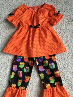 A personal favorite from my Etsy shop https://www.etsy.com/listing/207195941/halloween-ruffle-pants-girls-halloween