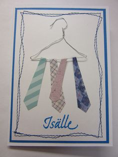 Isälle, kravattikortti Arts And Crafts, Kids, Art And Craft, Art Crafts, Crafting