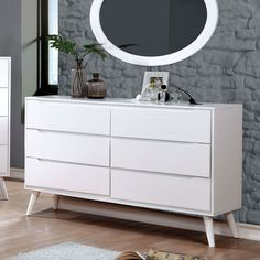 Grey Dresser, 6 Drawer Dresser, Double Dresser, Dresser With Mirror, Drawer Pulls, Drawer Handles, White Dressers, Oval Mirror, Furniture Removal