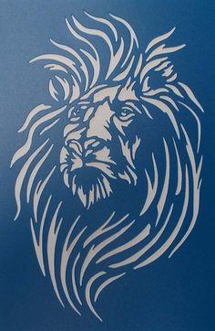 Pochoir Lion 02 par kraftkutz sur Etsy