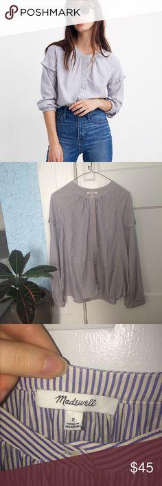 Women/'s Gray Long Sleeve Yanuk Black /& White Shirt Petite Large fits Size Medium