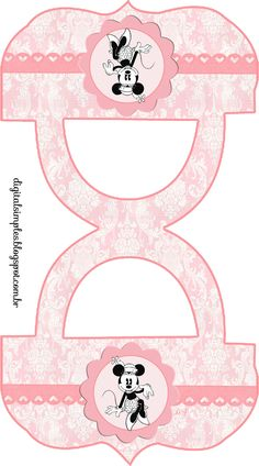 "Kit Personalizados de Aniversário Tema""Minnie Retrô"" - Convites Digitais Simples"