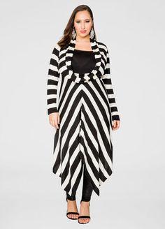 b80427f5b13 Striped Oversized Cowl Sweater Dress. Ashley StewartFashionable ...