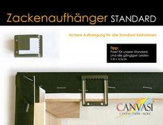 Zackenaufhänger für Standard Leisten - 25 Stck. Bathroom, Wedges, Canvas Frame, Bathing