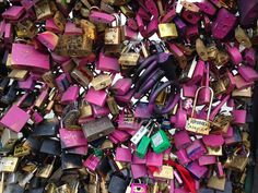 Love Locks in Paris. Love causes people to do wonderful and spontaneous things