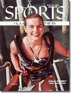 Zale Perry - famous female scuba diver.