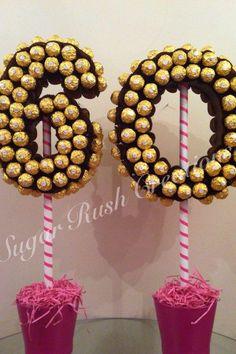 Large Double Numbers in Ferrero Rocher.