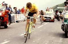 1989 Tour. Lemond 500 Meters from Finish at Superbagneres