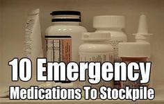 10 Emergency Medications To Stockpile, survival, prepping, stockpile, barter… Working on Hashtags: