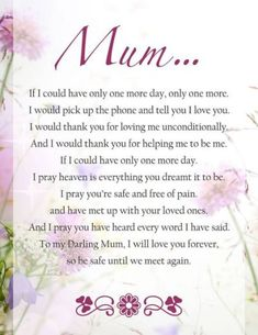 Funeral Poem for Mom | Funeral