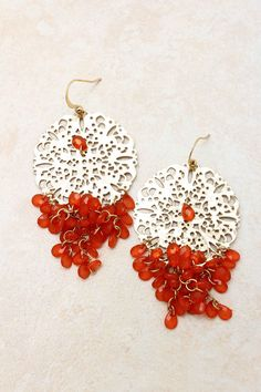Fiery Manuella Chandelier Earrings on Emma Stine Limited