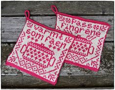 pattern by Jorunn Jakobsen Pedersen Crochet Potholders, Crochet Granny, Knit Crochet, Christmas Interiors, Crochet Home Decor, Diy Arts And Crafts, Pot Holders, Knitting Patterns, Diy Design