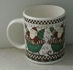 Sakura Santas Spirit Mug Debbie Mumm Santa Claus Holiday Christmas Coffee Cup  - This Item is for sale at LB General Store http://stores.ebay.com/LB-General-Store ~Free Domestic Shipping