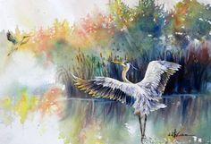 Master Artist Workshop with Leslie Wood Watercolor Drawing, Watercolor Animals, Watercolor And Ink, Painting & Drawing, Watercolor Paintings, Watercolor Artists, Watercolours, Artist Workshop, Watercolor Techniques