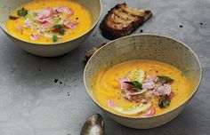 Roasted Butternut Squash and Golden Beet Soup