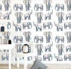 Elephant Print Wallpaper