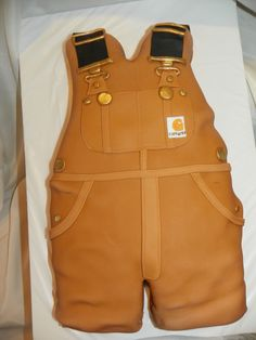 Carhartt Overall's, baby shower cake | Well..lets take this obsession to the next level
