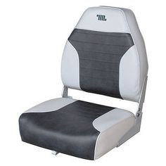 Folding Fishing Chair Grey Charcoal Boat Seat Wise