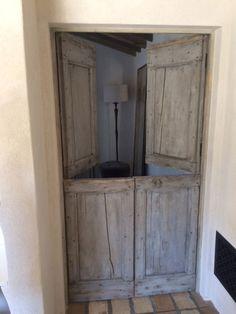 Porte interieure ancienne en pin portes pinterest - Porte interieure vitree ancienne ...