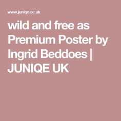 wild and free as Premium Poster by Ingrid Beddoes | JUNIQE UK