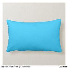 Sky blue solid color lumbar pillow Navy Blue Pillows, Blue Cushions, Blue Throw Pillows, Colorful Pillows, Decorative Throw Pillows, Decor Pillows, Blue Living Room Decor, Blue Throws, Lumbar Throw Pillow