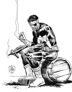Nick Fury by Lee Weeks Comic Art