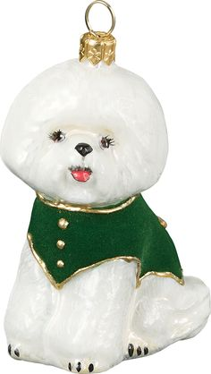 Pet Set Diva Dog Bichon Frise Christmas Ornament Dog – For the Love Of Dogs - Shopping for a Cause