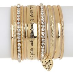 """Music Culture """"All You Need Is Love"""" Set of Bracelets"""